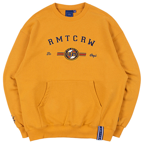 RMTCRW LOGO POCKET SWEATSHIRT_YELLOW