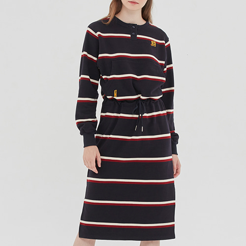 GNAC STRIPE POCKET DRESS_NAVY