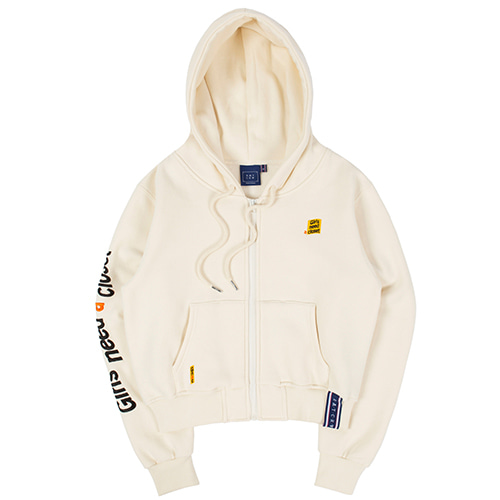 GNAC HOOD ZIP UP_OATMEAL