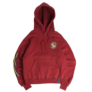 Ceremony Tape Wide hoodie _ Burgundy