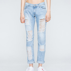 Light Blue Damage Pants