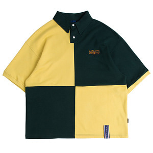 Quarter Block Half Polo_Green