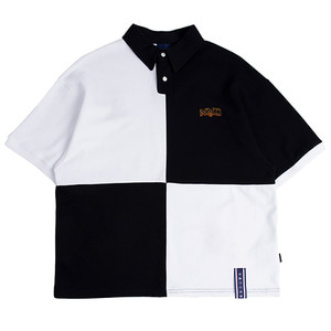Quarter Block Half Polo_White