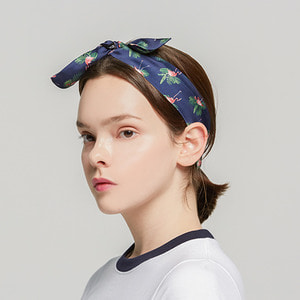 Flamingo Hairband_Navy
