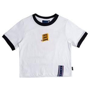GNAC Crop T Shirt_White