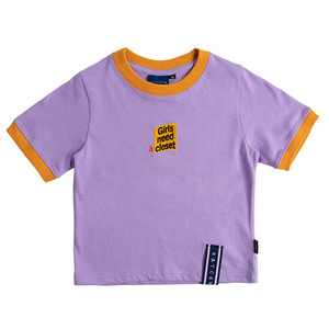 GNAC Crop T Shirt_Purple
