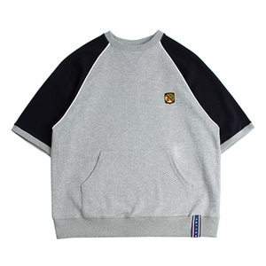 Raglan Piping T Shirt_Grey