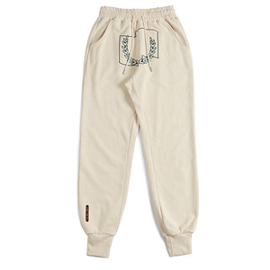 Laurel Crown Jogger Pants_Oatmeal