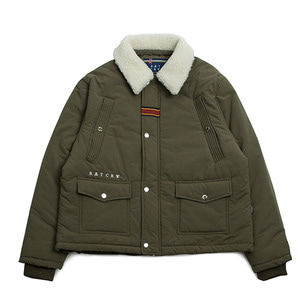 Chest Pocket Sherpa Jacket_Khaki