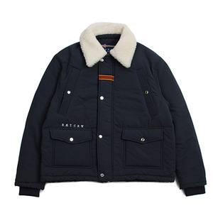 Chest Pocket Sherpa Jacket_Navy
