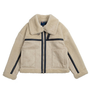 RMTC Aviator Mouton Jacket_Oatmeal
