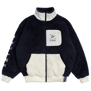 [R.C X M.G]Pocket Heavy Fleece Jacket_Navy