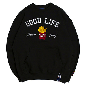 10th Good Life Sweat Shirt_Black