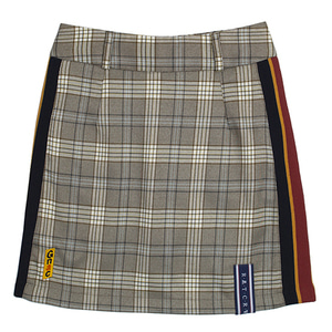 GNAC Check Skirt_Grey
