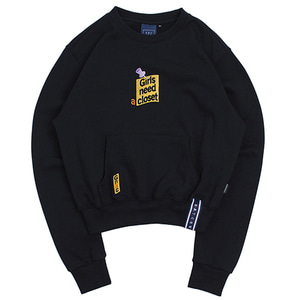 Post Logo Pocket Sweat Shirt_Navy