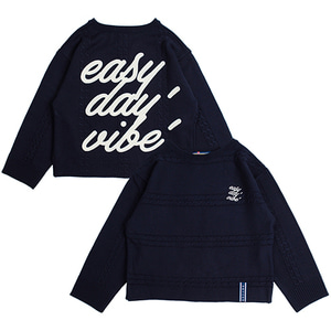 Triple Chain Knit_Navy