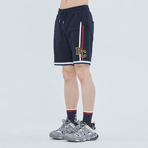 RC Double Line Half Pants_Navy