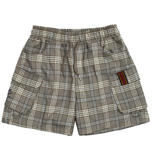 E.D.V Short Check Pants_Grey