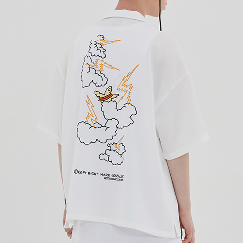 [R.C X M.G]Thunder Angel Souvenir Shirts_White