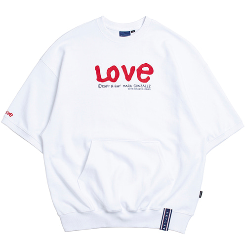 [R.C X M.G]WITH LOVE Pocket T Shirts_White