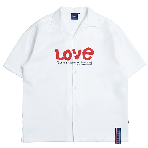 [4/23 예약발송][R.C X M.G]WITH LOVE Souvenir Shirts_White