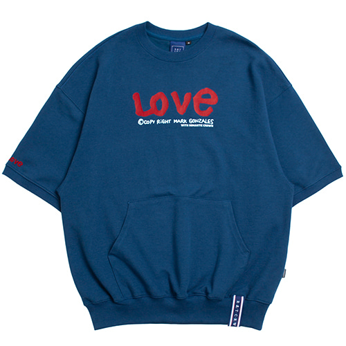 [R.C X M.G]WITH LOVE Pocket T Shirts_Blue