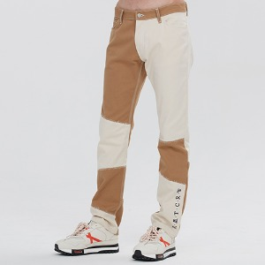 CUT STITCH PANTS_BEIGE