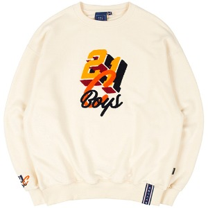 COLOR LOGO SWEATSHIRT_OATMEAL
