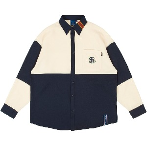 UP AND DOWN BLOCK SHIRT_NAVY