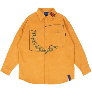 CORDUROY WIDE SHIRT_YELLOW
