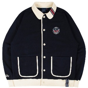 [3/17 예약발송]ROUND COLLAR COTTON CARDIGAN_NAVY
