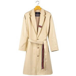 BELT TAPE OVERFIT COAT_OATMEAL