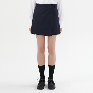 [KIRSH X RMTCRW]WRAP SKIRT PANTS_NAVY
